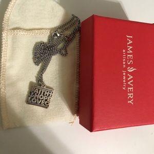 Faith Hope Love James Avery necklace